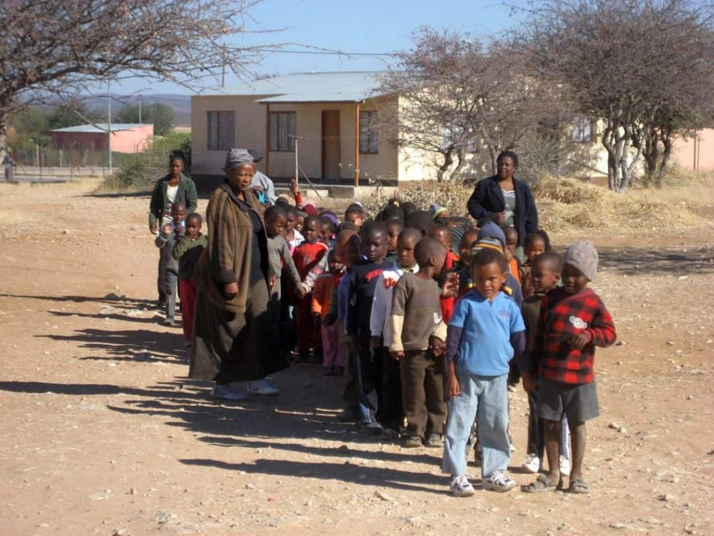 Kindergartenkinder in Outjo, Namibia 2008