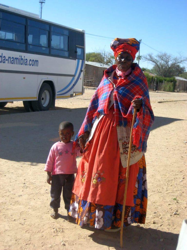 Damara Frau im Nordwesten Namibias. 2008