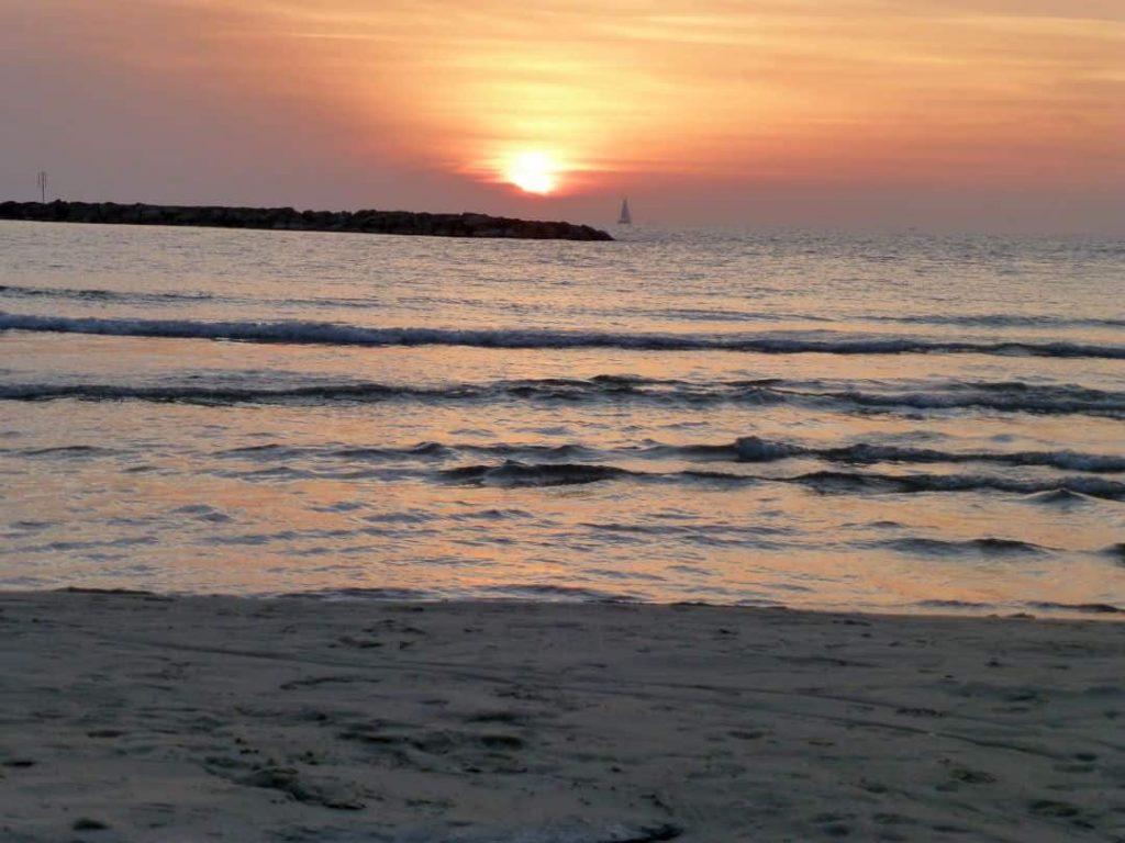 Strand von Tel Aviv. Israel 2013